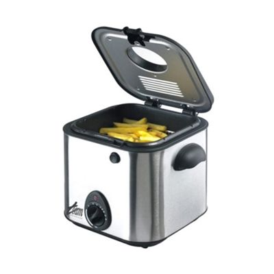 buy team 1 litre mini deep fat fryer in stainless steel. Black Bedroom Furniture Sets. Home Design Ideas