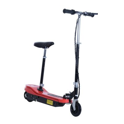 Homcom Kids E Scooter Ride On Folding Electric Bike Adjustable w/ Rechargeable Battery (Red)