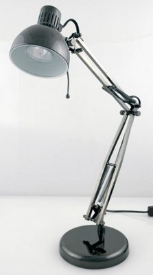 Lloytron 35W Home Essence Studio Poise Hobby Desk Lamp Black Chrome