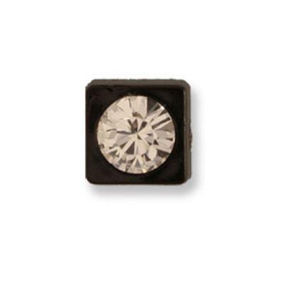 Impex Swarovski Black Square Button 10mm