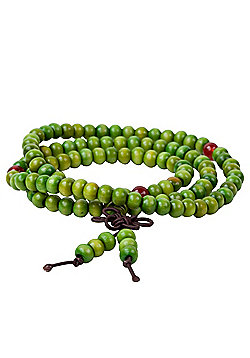 Sintar Cream Wooden Wrap Style Men's Bead Bracelet