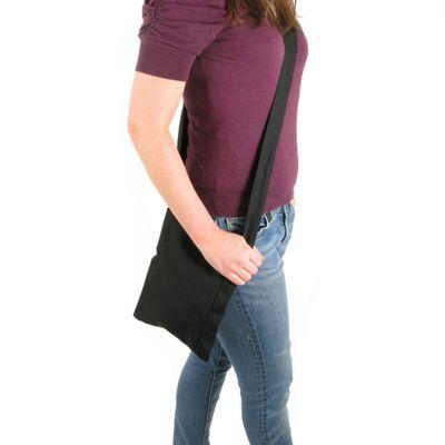 Artys Heavy Cotton Pouch Bag - Black