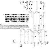 RockShox Coil/Shaft Assy 100mm Tora/Recon XC Series 10-11 32mm Med Red