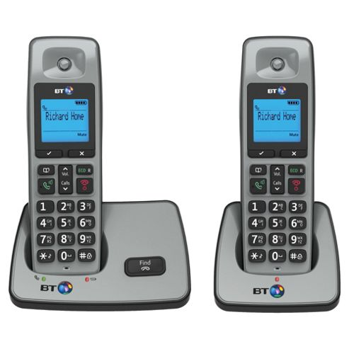 BT 2000 Twin Cordless Telephone , Silver