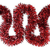 6m Red Chunky Cut 10cm Christmas Tree Tinsel