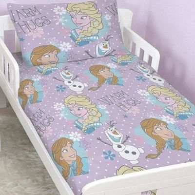 Disney Frozen Toddler Bedding with Matching Curtains 54s