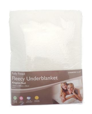 Country Club Fully Fitted Fleecy Underblanket, King Size Bed