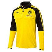 Puma Borussia Dortmund BVB 2017/18 Mens Quarter Zip Training Top - Yellow
