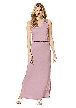 Vero Moda V-Neck Maxi Dress - Pink