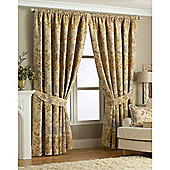 Riva Home Berkshire Pencil Pleat Curtains - Gold