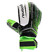 Reusch Re:Ceptor SG Extra Mens Goalkeeper Goalie Glove Black/Green - Green