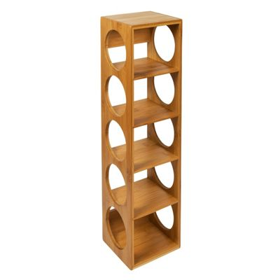Woodluv 100% Natural Bamboo Stackable Wine Rack