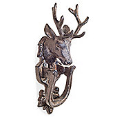 Antique Bronze Cast Iron Stag's Head Country Style Door Knocker