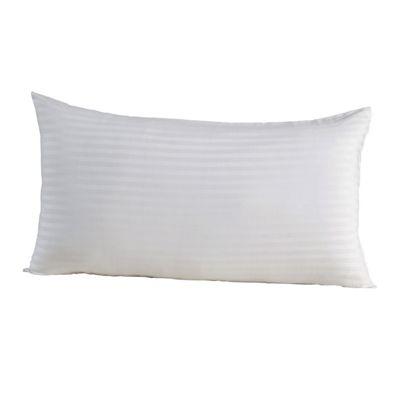 Homescapes White Egyptian Cotton Satin Stripe Housewife Pillowcase 330 TC, King Size Pillow Cover