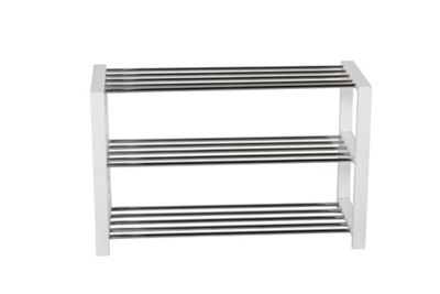 buy 3 tier shoe rack white from our storage boxes range. Black Bedroom Furniture Sets. Home Design Ideas