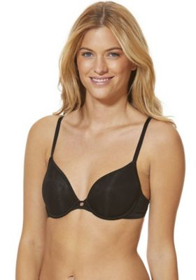 F&F Signature Sheer Cup T-Shirt Bra 34 C cup Black