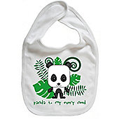 Dirty Fingers Panda to my every need Baby Cute Bib White