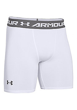 Under Armour HeatGear Armour Compression Baselayer Short - White