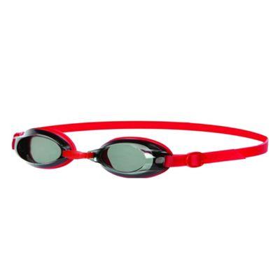 Speedo Jet Junior Kids UV Anti Fog Swimming Goggles - Red/Black