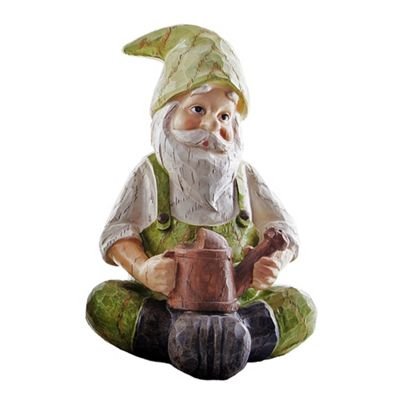 Alan The Wooden Effect Resin Garden Gnome Ornament With Watering Can