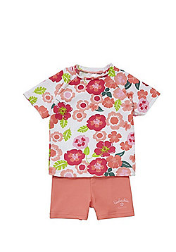 Babeskin Floral Print UPF50+ Rash Top and Shorts Set - Multi