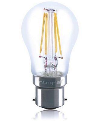 Integral LED Mini Globe Full Glass Omni-Lamp LED Light Bulb 4W (36W) 2700k Warm White B22