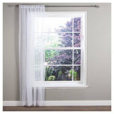 Ceder Voile Slot Top Curtain W137xL137cm (58x54