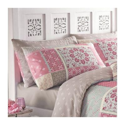 Dreams n Drapes Shantar Pink Pair Housewife Pillowcases - Pair