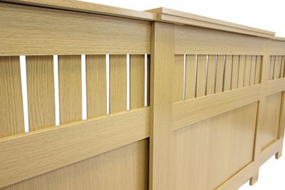 Jack Stonehouse Panel Oak Finish MDF Radiator Cover Adjustable