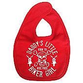 Dirty Fingers Daddy's little Biker Girl Baby Bib Red