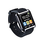 BAS-TEK U8 Bluetooth Smartwatch For iPhone & Android, Touchscreen Display - Silver
