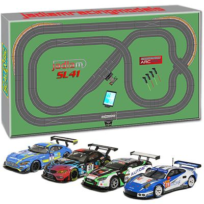 SCALEXTRIC Digital Set SL41 JadlamRacing Layout ARC PRO with 4 Cars