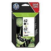 HP 62 Content Value Pack 2-pack Black/Tri-colour Original Ink Cartridges
