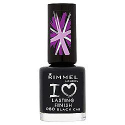 Rimmel London I Love Lasting Finish Nail Polish 080 Black Cab