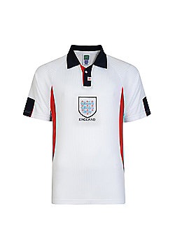 Score Draw England 1998 World Cup Mens Home Football Shirt White - S - White