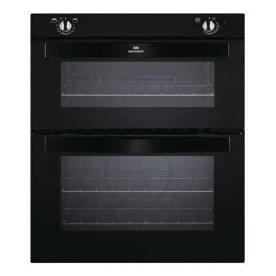 New World NW701DO Double Electric Oven Black