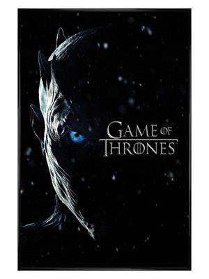 Game of Thrones Gloss Black Framed Season 7 Night King Poster