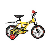 "Raleigh Atom Kids Bike 12"" Wheel w/Stabilisers Yellow"
