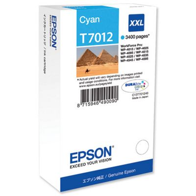 Epson T7012 Extra High Ink Cartridge - Cyan