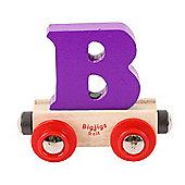 Bigjigs Rail Rail Name Letter B (Purple)