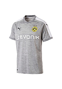 Puma Borussia Dortmund BVB 2017/18 Mens Third Football Jersey Shirt Grey - Grey