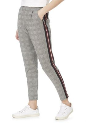 F&F Side Stripe Checked Trousers Multi 16