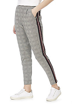 F&F Side Stripe Checked Trousers - Multi