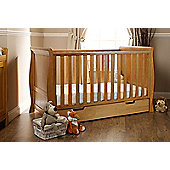 Obaby Stamford Cotbed/Drawer/Sprung Mattress/Quilt and Bumper Set - Country Pine
