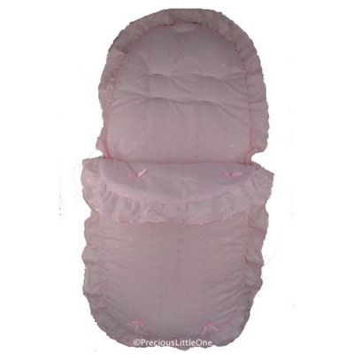 Cuddles Collection Broderie Anglais Footmuff (Pink)