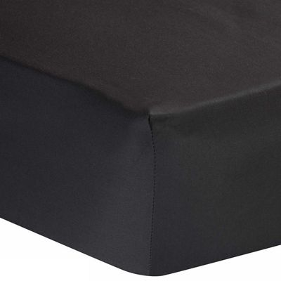 Homescapes Dark Grey Egyptian Cotton Deep Fitted Sheet 1000 TC, Single
