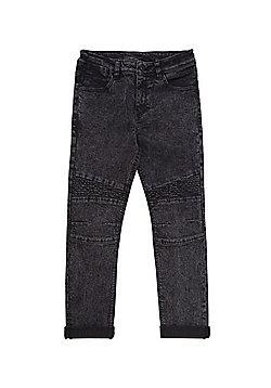 F&F Skinny Fit Biker Jeans - Grey