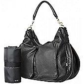 OiOi Hobo Nappy Change Bag - Black Faux Lizard Slouch (6699)