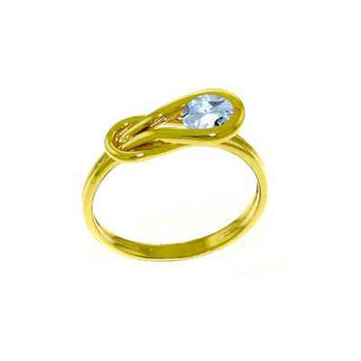 QP Jewellers 0.65ct Aquamarine San Francisco Ring in 14K Gold - Size S 1/2