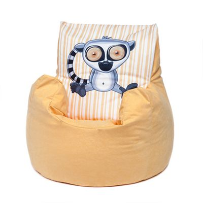 Yellow Lemur Children's Character Micro Suede Bean Bag Chair